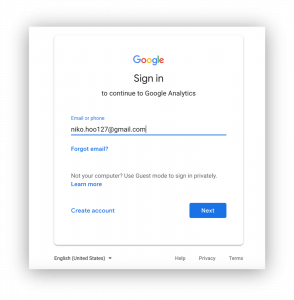 2.sign in to google analytics